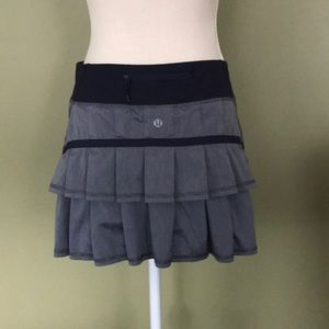 Lululemon ruffle back striped skirt